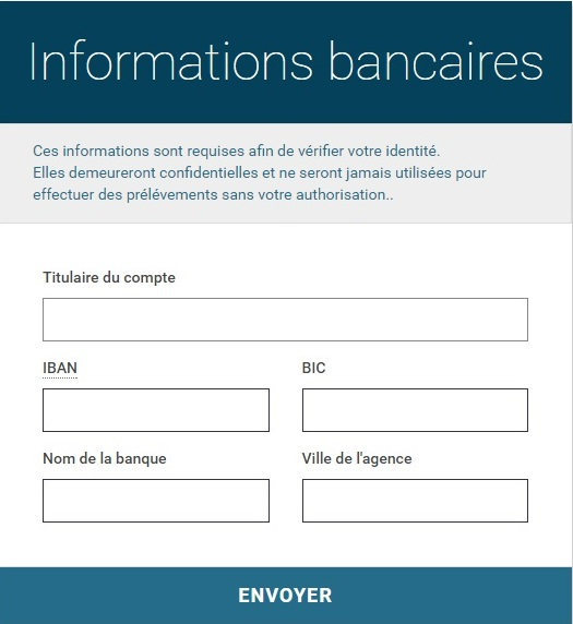paymium informations bancaires