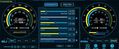 GTX 1070 AMP EXTREME OC FireStorm