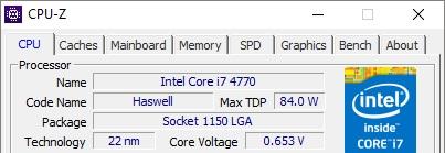 max TDP i7 4770