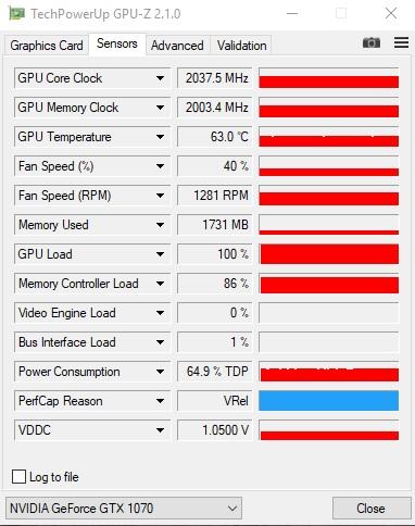 Sensor GPU-Z