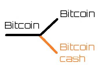 Split bitcoin, bitcoin cash