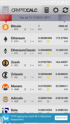 Crypto calc