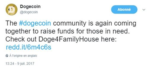 dogecoin actions humanitaires