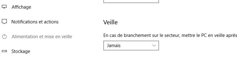 Veille Windows 10