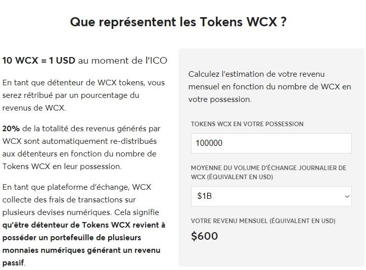 WCX Tokens