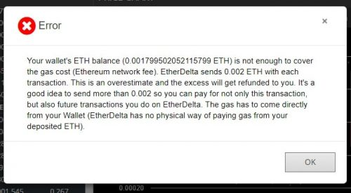 gas EtherDelta
