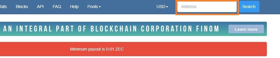 adresse zcash nanopool