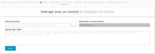 Selection contrat PoSToken