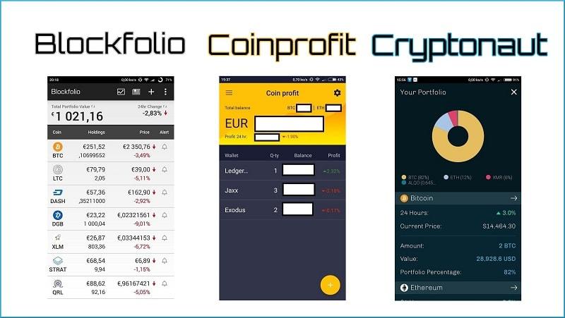 Blockfolio, Coinprofit et Cryptonaut