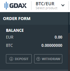 GDAX Deposit