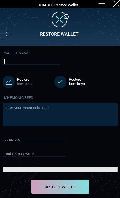 xca restore wallet