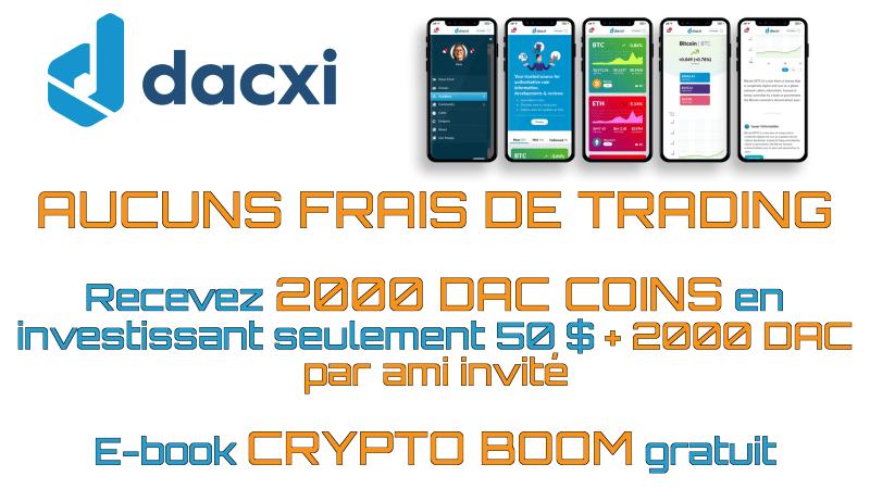 Dacxi DAC Coin Trading