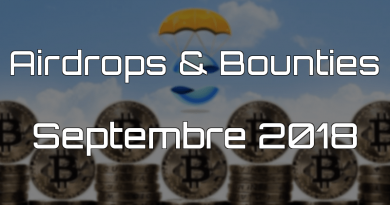 Airdrops & Bounties Sept 2018