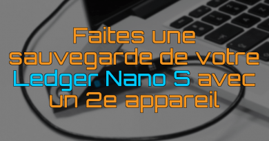 Sauvegarde Ledger Nano S