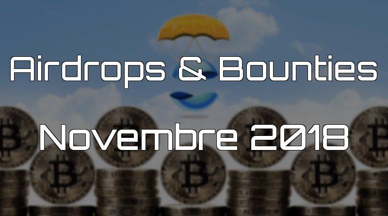 Airdrops & Bounties Novembre 2018