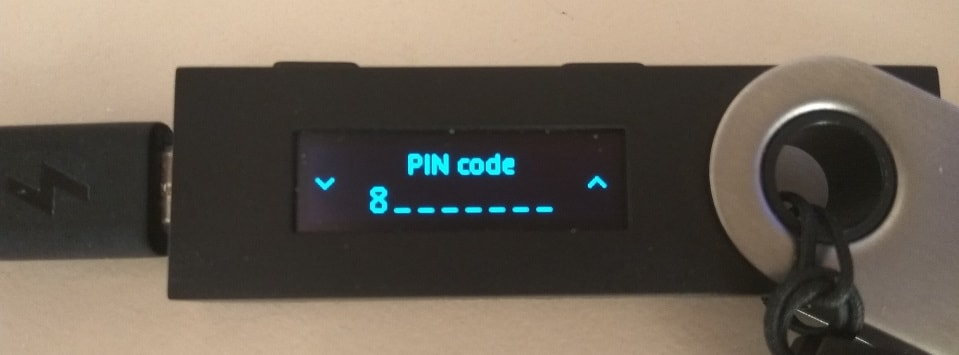 Ledger Nano S PIN code