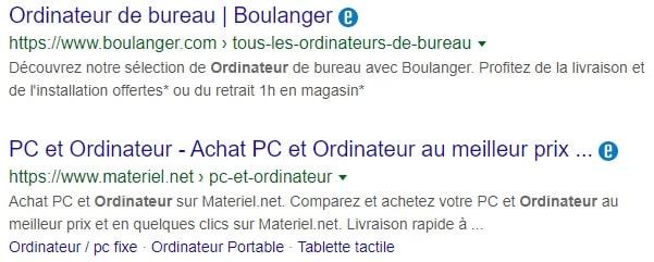 Boulanger et materiel.net