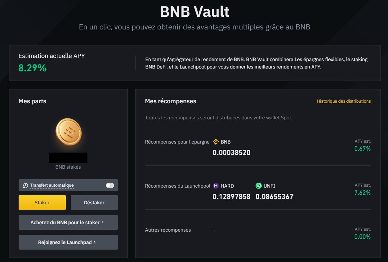 BNB Vault