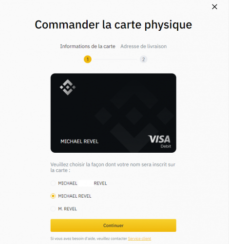 carte binance