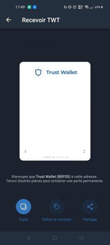 Dépôt twt Trust Wallet